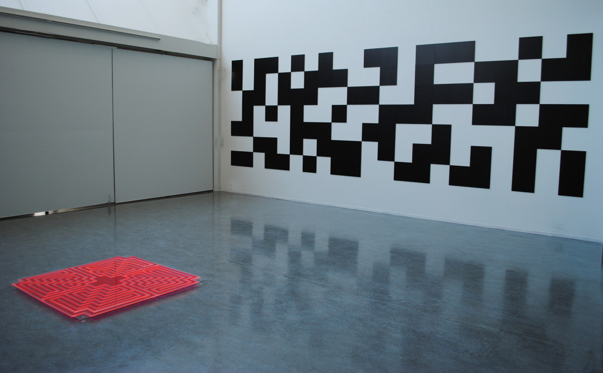 Wall installation by Hennie Ann Isdahl and floor installation By Lisa Pacini