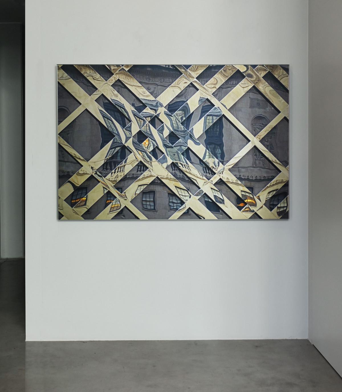 Chicago #04, photo 100x150 cm on brushed aluminum
