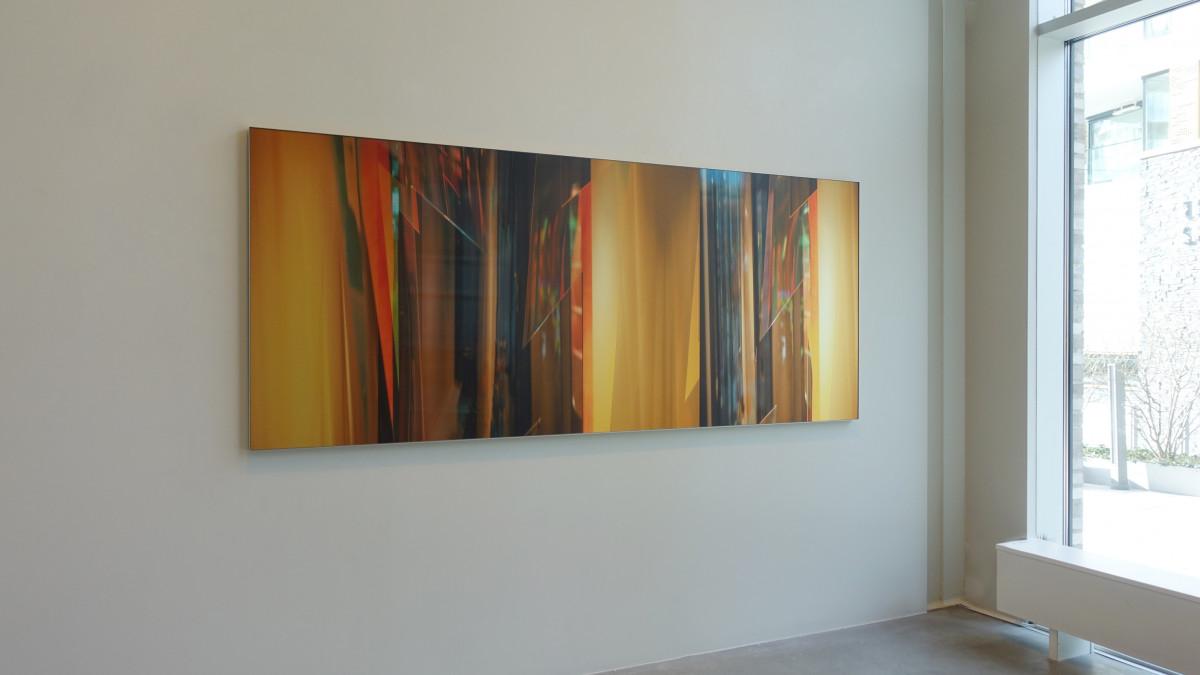 OSL duo 02. Size 100x240 cm. Photo on brushed aluminum