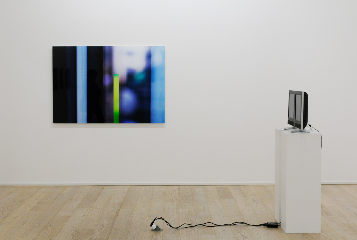 Madison Ave #01, photography 110x160 cm. Speed Pulse, video on two monitors; sound of the artists major artery.