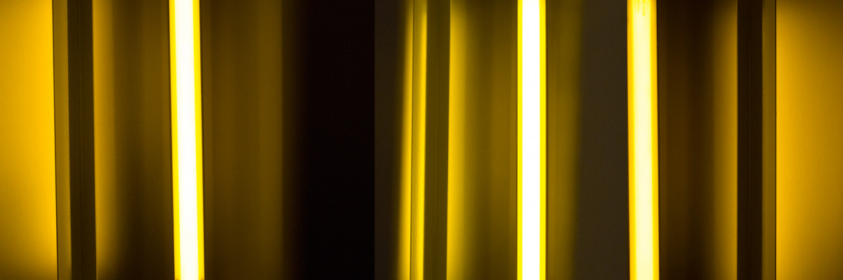 Spania triple, 2011, photography, 70x200 cm on brushed aluminium.